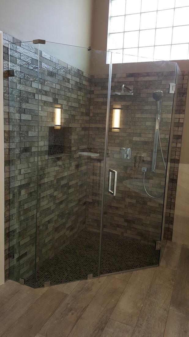 Neo Angle - Frameless Shower Doors from Glass By Design